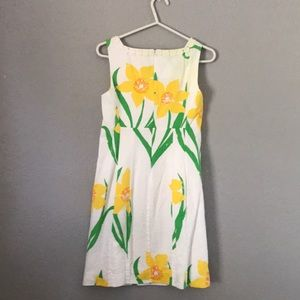 Lilly Pulitzer Dresses - Lilly Pulitzer White with Yellow Florals Dress
